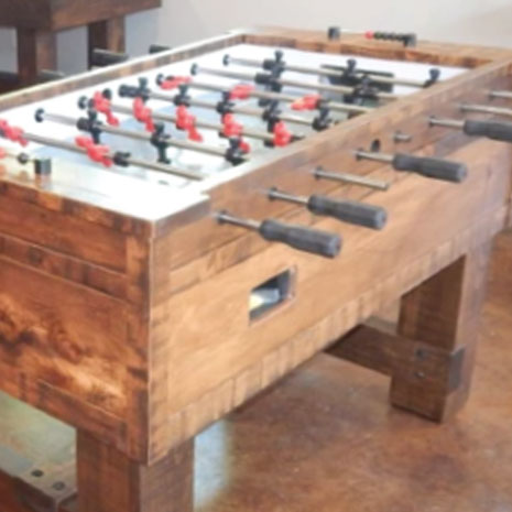 Nice rustic, wooden Foosball Table